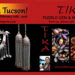 Tika's advertisement for the Tucson Gem Show