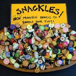 handmade ceramic snackle beads