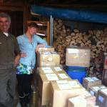 Tika boxes ready to send to Milwuakee