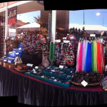 panoramic view of Tika's outdoor booth space in Tucson