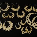 handmade Odyssia brass earrings