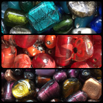foil glass beads made in India
