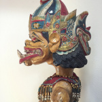Vintage Wayang Puppet from Indonesia