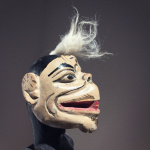 Traditional wooden puppet from the Wayang Golek puppet theatre of Indonesia