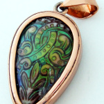 copper mirage bead pendants