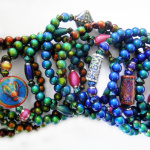an assortment of micro mirage bracelets changing color