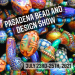 mirage bead backdrop for Pasadena Bead and Design show announcement