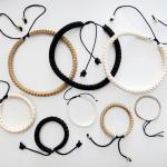 Snake Vertebrae Jewelry with adjustable linen cord closure