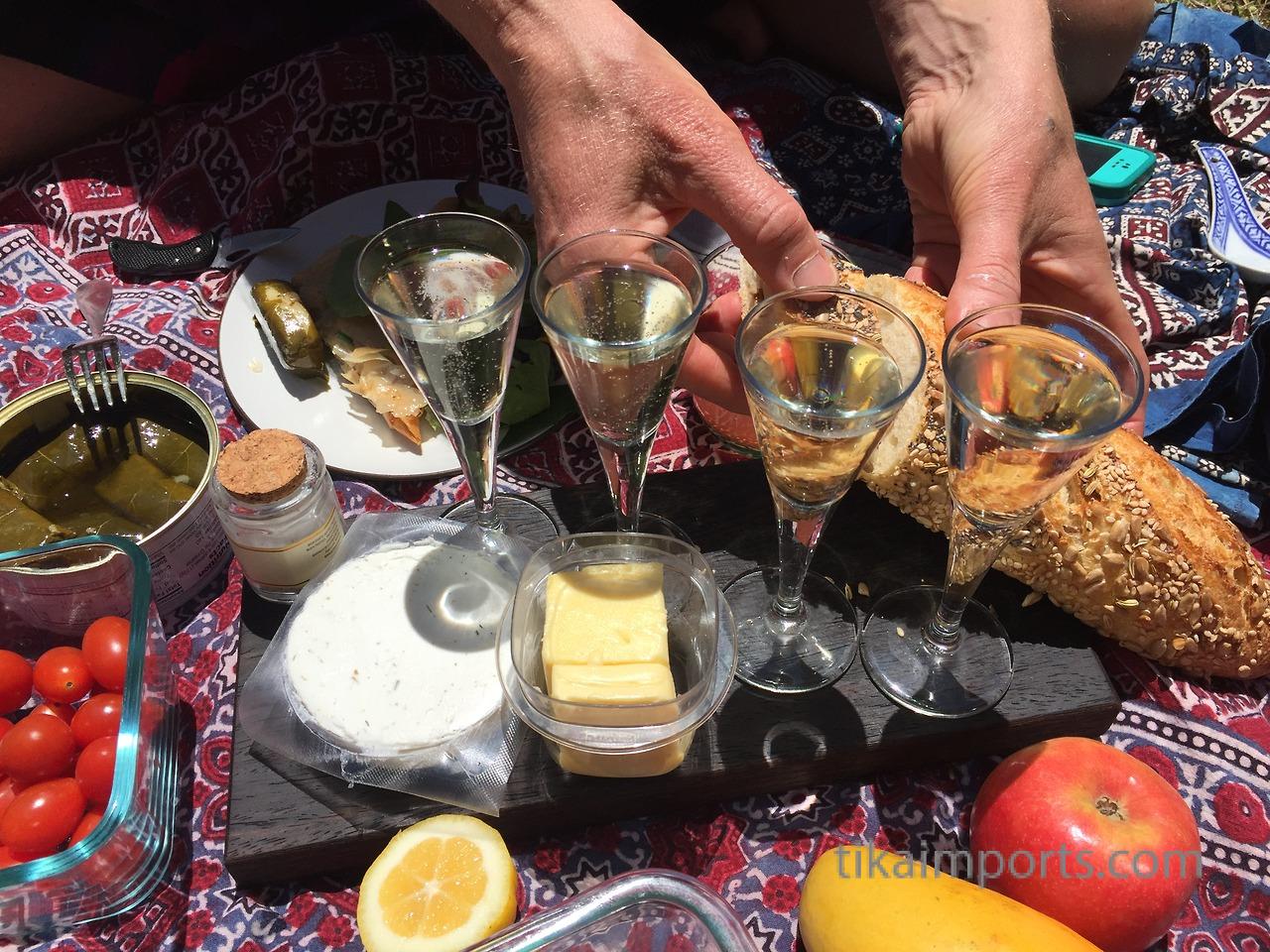 Tika's picnic spread