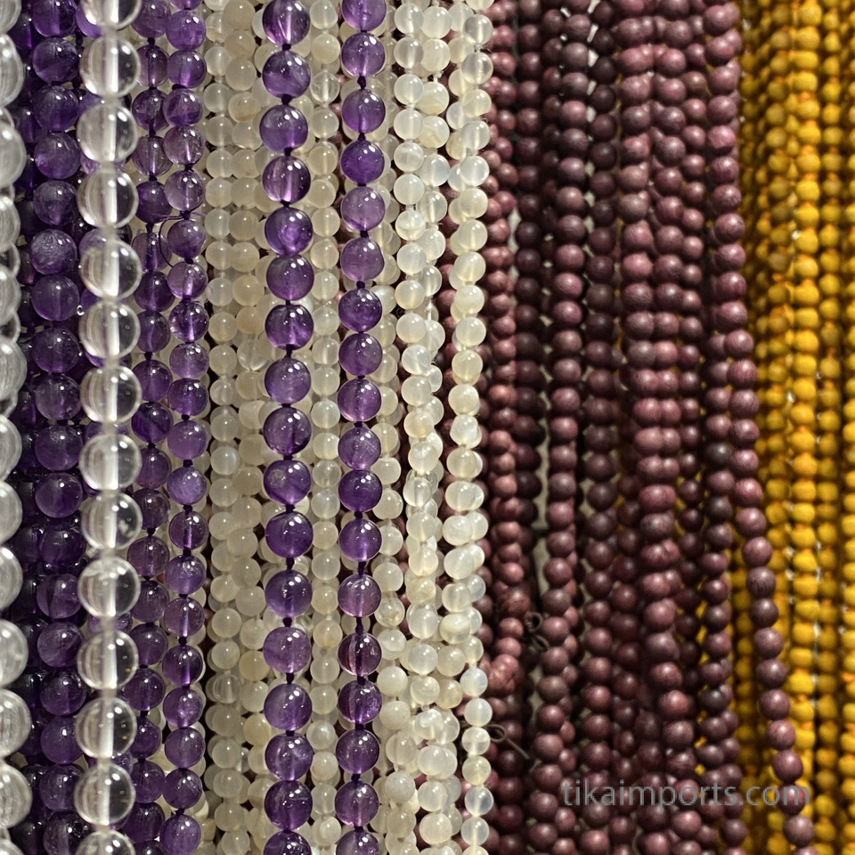 a pretty pallet of prayer mala beads