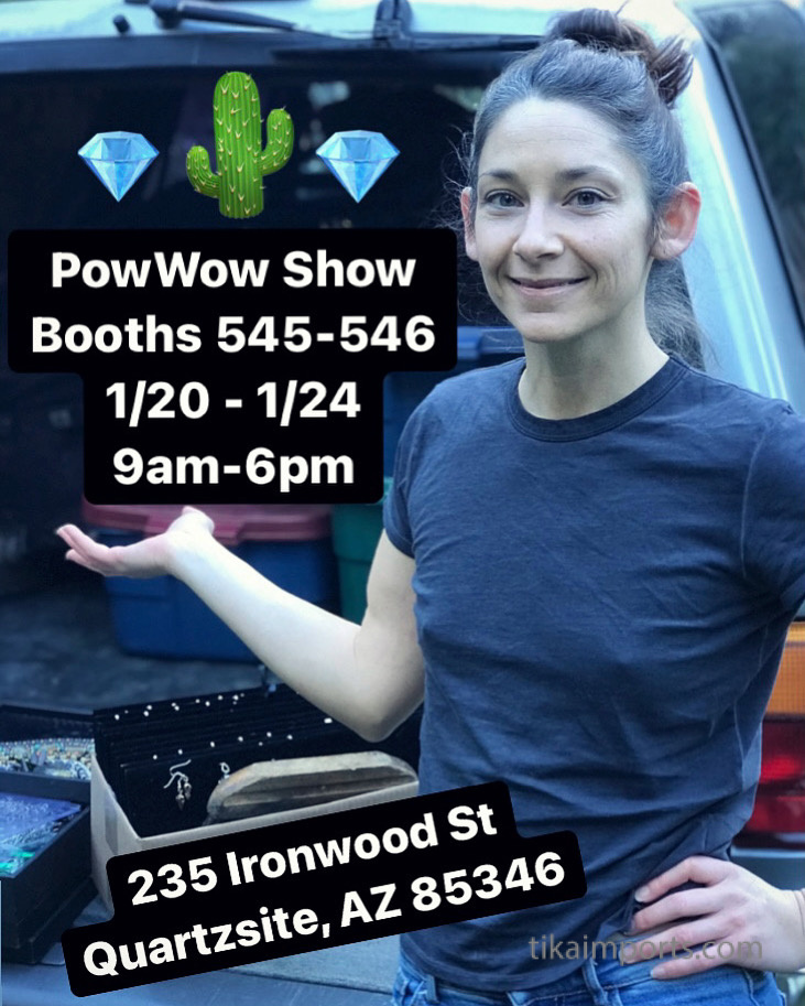 Tika girl Jessica, packing for PowWow Show in Quartzsite, AZ