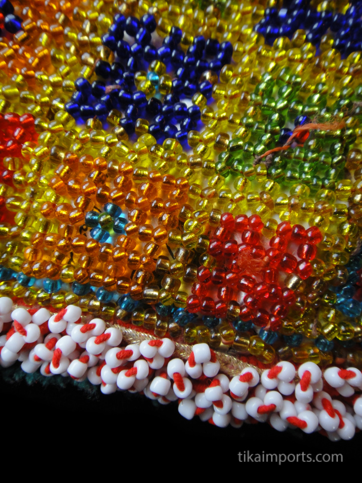 closeup detail of Large Beaded Dress Flower