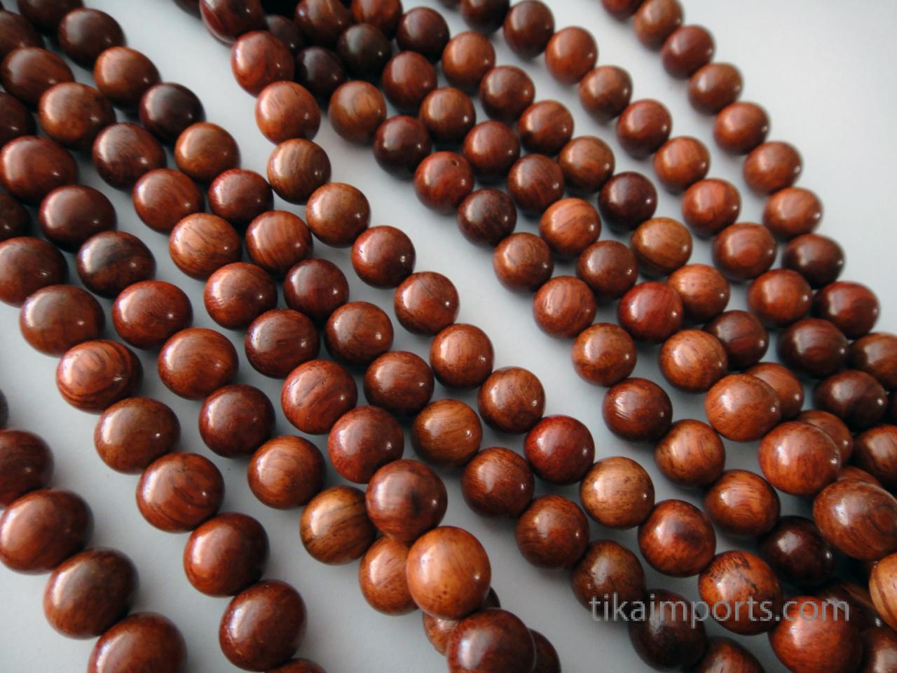 8mm naturally aromatic palisander rosewood mala
