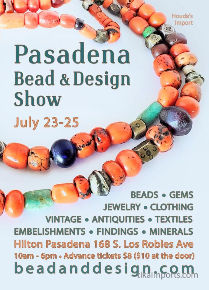 Pasadena Bead and Design Show flyer